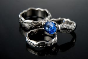 Marriage bands and engagement ring