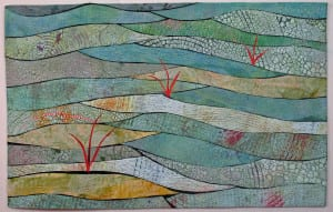 """Marsh with Red Grass"" art quilt, by Betty Ford"