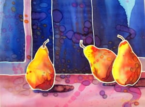"""Three Pears"" by Lubna Zahid"