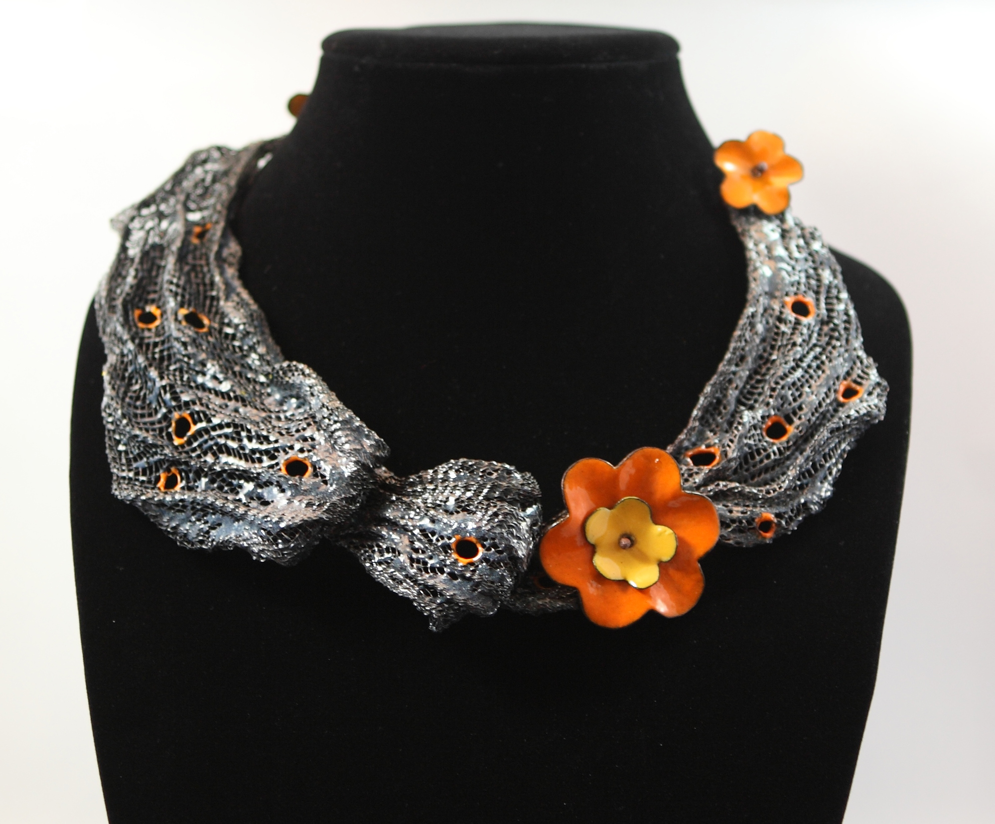 Shelly Shen Flower necklace