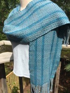Carol Brobst, woven shawl
