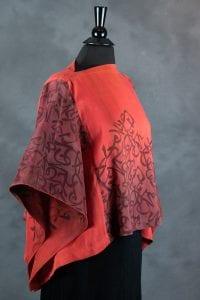 Clara Graves, silk-painted garment