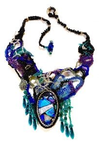 Gladys Seaward, free-form beaded necklace